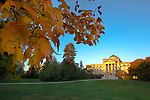 Beardshear Hall at sunrise on the campus of Iowa State University in Ames, Iowa. (Christopher Gannon/Gannon Visuals)