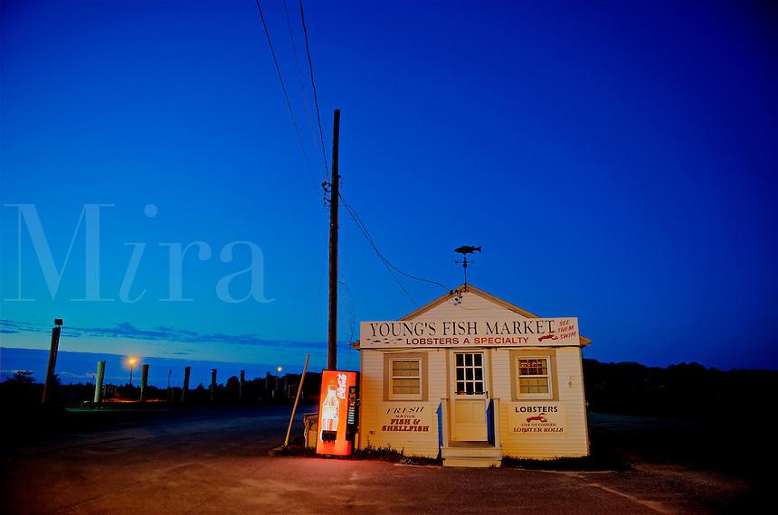 Fish market shack at Rock Harbor, Orleans, Cape Cod, MA