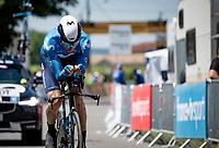 Carlos Verona (ESP/Movistar)<br /> <br /> Stage 20 (ITT) from Libourne to Saint-Émilion (30.8km)<br /> 108th Tour de France 2021 (2.UWT)<br /> <br /> ©kramon