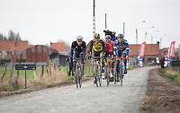 chasing gorupe with Norman Hansen Lasse (DEN/Aqua Blue Sport) and Guillaume Van Keirsbulck (BEL/Wanty Groupe-Gobert) <br /> <br /> 1st Dwars door West-Vlaanderen 2017 (1.1)