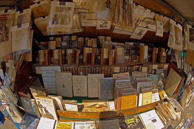 Paris - France - Seine Bank with Book Stalls Near Notre Dame