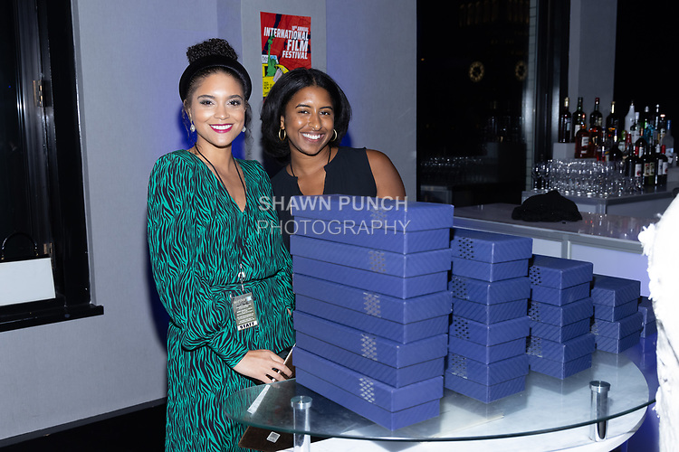 Staff with awards at the 10th Annual Winter Film Awards International Film Festival Gala on October 2, 2021 at 230 Fift Avenue in New York City.
