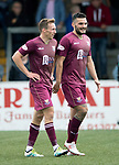 Forfar v St Johnstone…28.07.18…  Station Park    Betfred Cup<br />David McMillan celebrates his goal with fellow striker Tony Watt<br />Picture by Graeme Hart. <br />Copyright Perthshire Picture Agency<br />Tel: 01738 623350  Mobile: 07990 594431