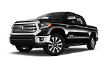 Stock pictures of low aggressive front three quarter view of 2018 Toyota Tundra Limited-Crew-Max-Short-Bed 4 Door Pickup Low Aggressive