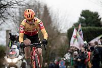 Also in thebreakaway group (from development team Uno-X): Jonas Abrahamsen (NOR/Uno-X)<br /> <br /> 72nd Kuurne-Brussel-Kuurne 2020 (1.Pro)<br /> Kuurne to Kuurne (BEL): 201km<br /> <br /> ©kramon