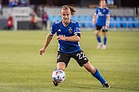 SAN JOSE, CA - MAY 01: Tommy Thompson #22 of the San Jose Earthquakes dribbles the ball during a game between San Jose Earthquakes and D.C. United at PayPal Park on May 01, 2021 in San Jose, California.