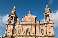Malta, 28 December 2014<br /> <br /> The harbourfront of the Ta Xbiex and Gzira neighbourhoods opposite the old capital of Valetta. The Msida Parish Church.<br /> <br /> Photo Kees Metselaar