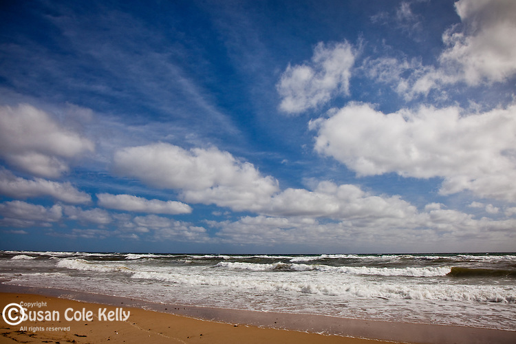 A beautiful summer sky at Cahoon Hollow Beach, Wellfleet, Cape Cod, MA, USA