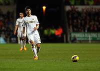 Tuesday 01 January 2013<br /> Pictured: Ki Sung-Yueng of Swansea<br /> Re: Barclays Premier League, Swansea City FC v Aston Villa at the Liberty Stadium, south Wales.