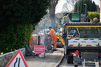 Work still goes on during the Coronavirus pandemic at Sidcup, Kent, England on 2 April 2020. Photo by Alan Stanford.