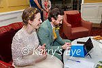 Jamie & Jemma Gillies on a Zoom call to their families all over the world after their wedding in the Listowel Arms Hotel on Friday last.