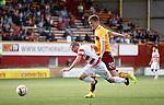 Motherwell's Fraser Kerr fouls Hamilton's Louis Longbridge on the edge of the box for a penalty kick