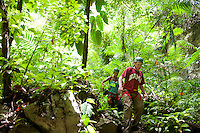 Caving, rappelling and jungle adventures at Caves Branch in Belize