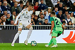 Fede Valverde of Real Madrid and Rodrigues of CD Leganes during La Liga match between Real Madrid and CD Leganes at Santiago Bernabeu Stadium in Madrid, Spain. October 30, 2019. (ALTERPHOTOS/A. Perez Meca)