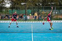 Netherlands, September 6,  2020, Amsterdam, Padel Dam, NK Padel, National Padel Championships, men's semifinal, Sten Richters (NED) and Robin Sietsma (NED) (L)<br /> Photo: Henk Koster/tennisimages.com