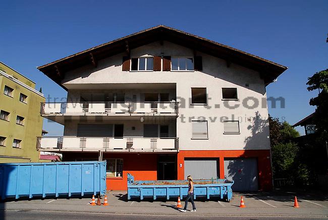 Altes Volksblatt-Gebäude an der Feldkircherstrasse in Schaan.©Paul Trummer, Mauren / FL.www.travel-lightart.com..