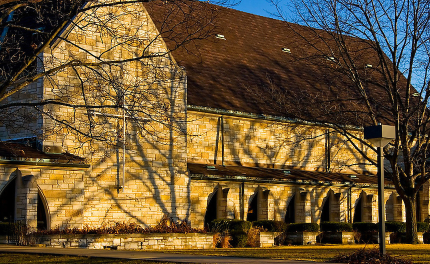 A couple of images of a church made in early morning light