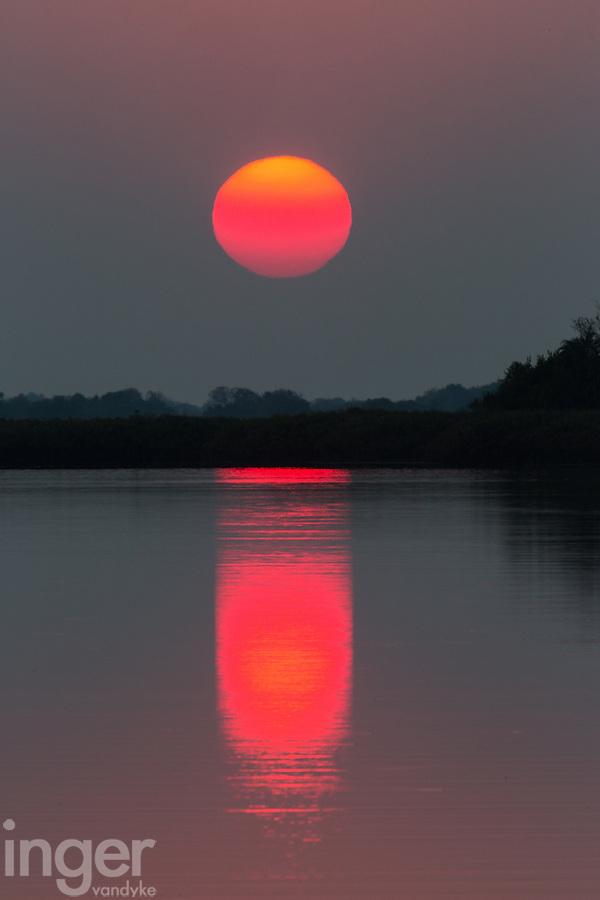 Sunrise in the Okavango Delta