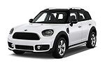 2017 MINI Countryman - 5 Door Hatchback Angular Front stock photos of front three quarter view