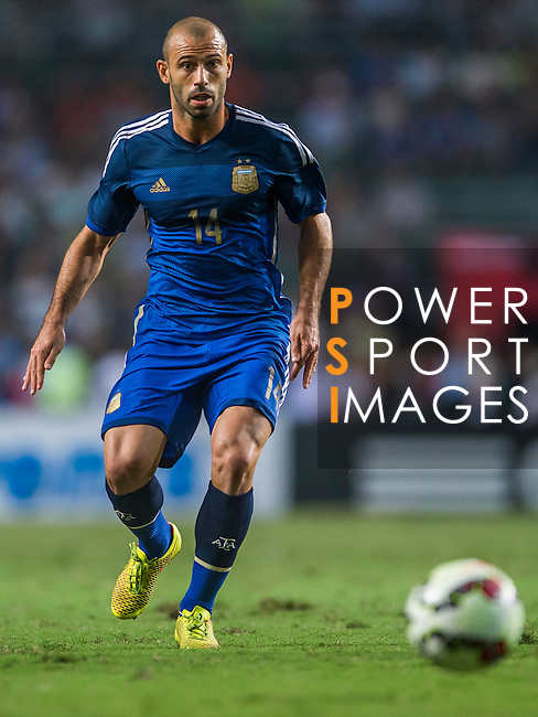 Javier Mashcherano of Argentina in action during the HKFA Centennial Celebration Match between Hong Kong vs Argentina at the Hong Kong Stadium on 14th October 2014 in Hong Kong, China. Photo by Aitor Alcalde / Power Sport Images