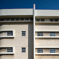 A Bauhaus style building at 37 Lilienblum Street built by architect Dov Kutchinsky in 1937. It currently houses the Bank of Israel. Tel Aviv is known as the White City in reference to its collection of 4,000 Bauhaus style buildings, the largest number in any city in the world. In 2003 the Bauhaus neighbourhoods of Tel Aviv were placed on the UNESCO World Heritage List. .