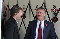 Saturday 10 November 2012<br /> Pictured L-R: Michael Laudrup, manager for Swansea meets Nigel Adkins, manager for Southampton in the tunnel before kick off<br /> Re: Barclay's Premier League, Southampton FC v Swansea City FC at St Mary's Stadium, Southampton, UK.