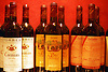 bottles of red wine of the spanish winemakers Torres and José Ferrer<br /> <br /> botellas de vino tinto de las bodegas españolas Torres y José Ferrer<br /> <br /> Rotweinflaschen der spanischen Bodegas Torres und José Ferrer<br /> <br /> Original: 35 mm