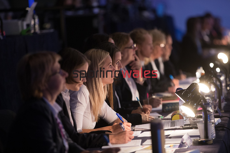 British Gymnastics Championships 2017<br /> Judges & Officials<br /> Liverpool Echo Arena<br /> 30.07.17<br /> ©Steve Pope - Sportingwales