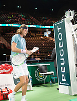 Rotterdam, The Netherlands, 13 Februari 2019, ABNAMRO World Tennis Tournament, Ahoy,  Stefanos Tsisipas (GRE)<br /> Photo: www.tennisimages.com/Henk Koster