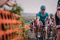Michael Valgren (DEN/Astana) up La Redoute<br /> <br /> 104th Liège - Bastogne - Liège 2018 (1.UWT)<br /> 1 Day Race: Liège - Ans (258km)
