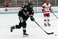 BOSTON, MA - JANUARY 11: Sara Hjalmarsson #19 of Providence College takes a shot during a game between Providence College and Boston University at Walter Brown Arena on January 11, 2020 in Boston, Massachusetts.
