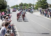 the breakaway group<br /> <br /> 104th Giro d'Italia 2021 (2.UWT)<br /> Stage 15 from Grado to Gorizia (147km)<br /> <br /> ©kramon