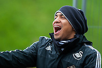 Thursday  21 January 2016<br /> Pictured: Jefferson Montero of Swansea <br /> Re: Swansea City Training Session at the Fairwood training ground