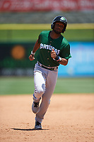 Daytona Tortugas Ty Washington (3) rounds the bases after a home run by Avain Rachal (not shown) during a game against the Clearwater Threshers on April 20, 2016 at Bright House Field in Clearwater, Florida.  Clearwater defeated Daytona 4-2.  (Mike Janes/Four Seam Images)