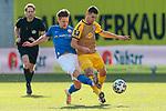 20.02.2021, xtgx, Fussball 3. Liga, FC Hansa Rostock - SV Waldhof Mannheim, v.l. Bentley Baxter Bahn (Hansa Rostock, 8), Marco Schuster (Mannheim, 6) Zweikampf, Duell, Kampf, tackle <br /> <br /> (DFL/DFB REGULATIONS PROHIBIT ANY USE OF PHOTOGRAPHS as IMAGE SEQUENCES and/or QUASI-VIDEO)<br /> <br /> Foto © PIX-Sportfotos *** Foto ist honorarpflichtig! *** Auf Anfrage in hoeherer Qualitaet/Aufloesung. Belegexemplar erbeten. Veroeffentlichung ausschliesslich fuer journalistisch-publizistische Zwecke. For editorial use only.