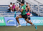 Adessha Weerathunga of Sri Lanka runs in a try during the Asia Rugby U20 Sevens 2017 at King's Park Sports Ground on August 4, 2017 in Hong Kong, China. Photo by Yu Chun Christopher Wong / Power Sport Images