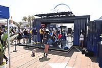 "SANTA MONICA, CA - AUGUST 13: The ""Disney+: The Stories Continue"" tour on the Santa Monica Pier on August 13, 2021 in Santa Monica, California. (Photo by Stewart Cook/Disney+/PictureGroup)"