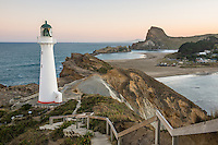 Sunset over Castlepoint Lighthouse, Hawke's Bay, North Island, New Zealand, NZ