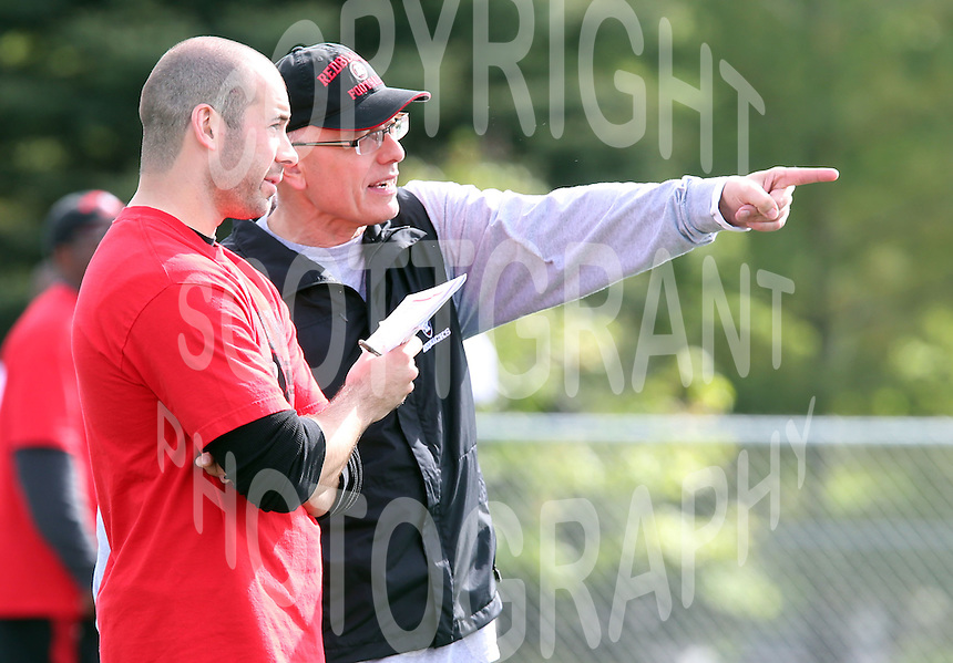 Mike Gibson Ottawa RedBlacks coach 2014. Photo Scott Grant