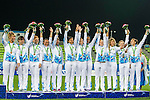 Trophy Ceremony during the17th Asian Games 2014 Rugby Sevens tournament on October 02, 2014 at the Namdong Asiad Rugby Field in Incheon, South Korea. Photo by Alan Siu / Power Sport Images