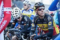 Belgian Champion and later winner Philippe Gilbert (BEL/Quick Step Floors) relaxed before start<br /> <br /> 101st Ronde van Vlaanderen  2017 (1.UWT)<br /> 1day race: Antwerp-Oudenaarde (260km)