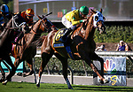 ARCADIA, CA: September 29: #6 Vaslika ridden to victory by Flavien Prat in Grade I Rodeo Drive Stakes at Santa Anita Park on September 29, 2018 in Arcadia, California (Photo by Chris Crestik/Eclipse Sportswire)