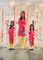 Mother and Daughters, Tet In Seattle,  Vietnamese New Year Festival 2019, Seattle Center, WA, USA.