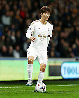 Ki Sung-Yueng of Swansea City during the Capital One Cup match between Hull City and Swansea City played at the Kingston Communications Stadium, Hull