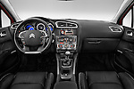 Straight dashboard view of a 2013 Citroen C4 Exclusive 5 Door Hatchback 2WD