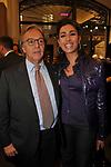 DIEGO DELLA VALLE CON CATERINA BALIVO<br /> APERTURA STORE FAY A FONTANELLA BORGHESE ROMA 10/2008