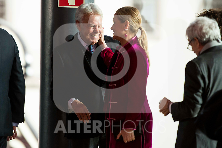 Felipe Gonzalez and Cristina Cifuentes attends to the act of imposition of the great cross of the civil order of Alfonso X el Sabio to D. Francisco Luzon Lopez at Reina Sofia Museum in Madrid. March 13, 2017. (ALTERPHOTOS/Borja B.Hojas)