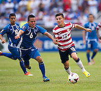 Jose Torres, Richard Menjivar Peraza.  The United States defeated El Salvador, 5-1, during the quarterfinals of the CONCACAF Gold Cup at M&T Bank Stadium in Baltimore, MD.