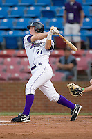 Brent Morel #21 of the Winston-Salem Dash follows through on his swing versus the Potomac Nationals at Wake Forest Baseball Stadium May 8, 2009 in Winston-Salem, North Carolina. (Photo by Brian Westerholt / Four Seam Images)