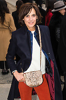 Ines de La Fressange arrives at the Chanel Fashion Show during Paris Fashion Week : Haute Couture F/W 2017-2018 on January 24, 2017 in Paris, France.
